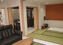 畳のご安置室と控室
