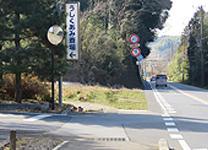 県道34号線 うしくあみ斎場入口