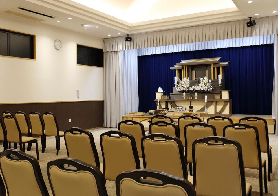 開放感のある家族葬ホール