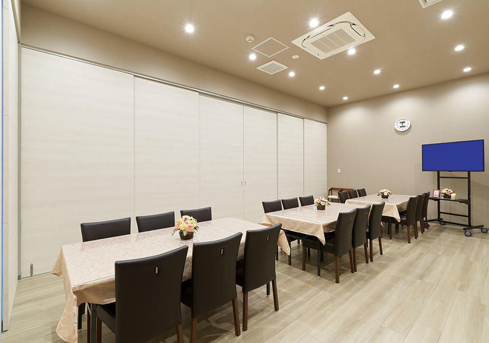 広々と清潔感のある会席室