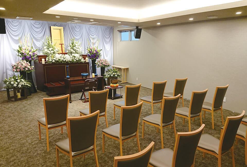 ゆったりとした家族葬ホール