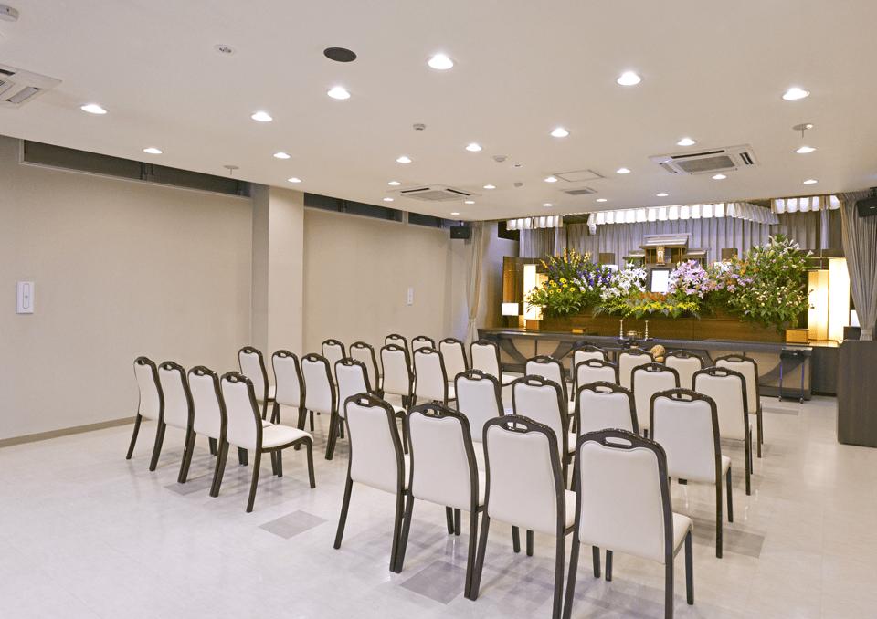 席数が調整できる家族葬ホール