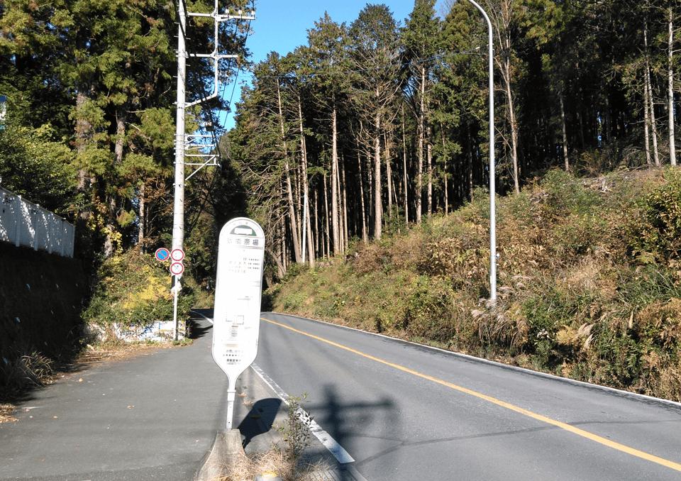 広域飯能斎場バス停