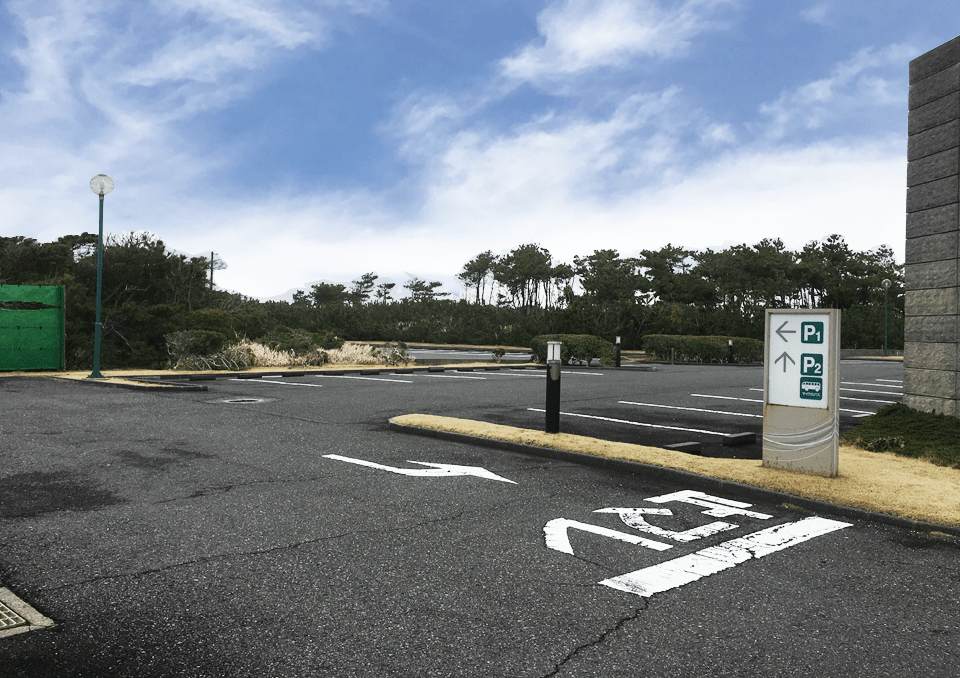 かみす聖苑 駐車場