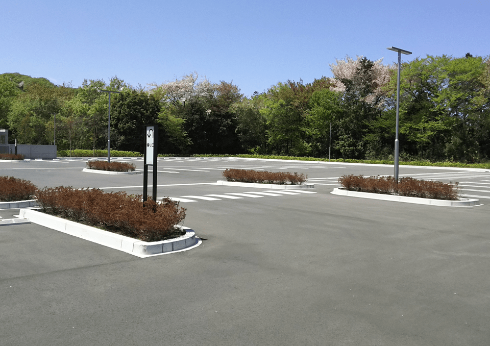 高崎市斎場 駐車場